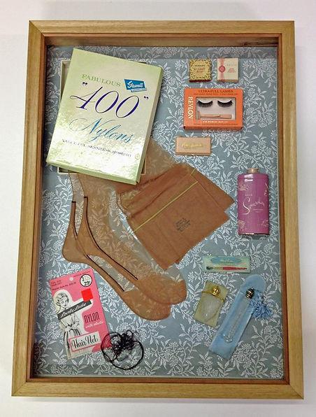 shodowbox, vintage womens nylons