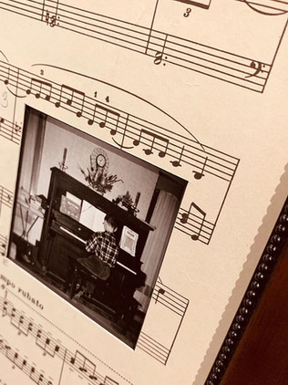 Custom mat made from a piece of vintage sheet music