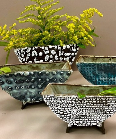 Hand Built Ceramic Planters