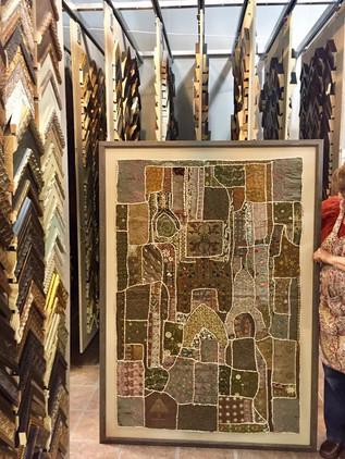 Large textile framed for customer