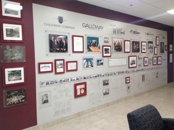 History Wall at Galloway Company