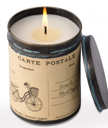 Anise & Black Pepper Bicycle Postcard Tin