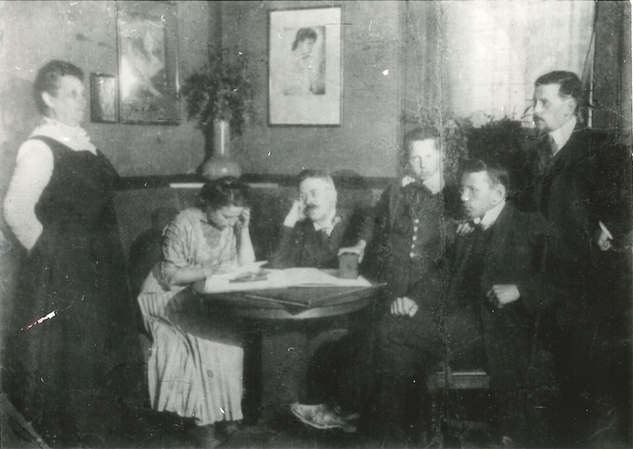Wedding anniversary of Eva and Nikolai Spielrein, Rostov-on-Don, 1909