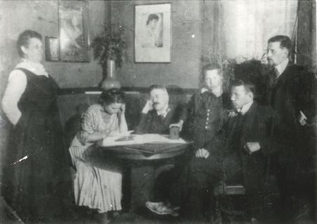 Wedding anniversary of Eva and Nikolai Spielrein, Rostov-on-Don, 1909