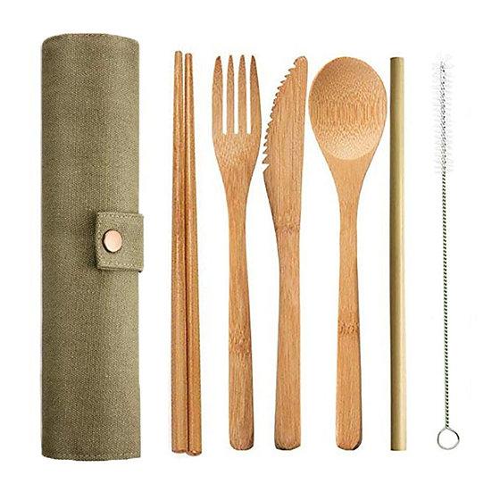 Bamboo Cutlery 6pcs/Set