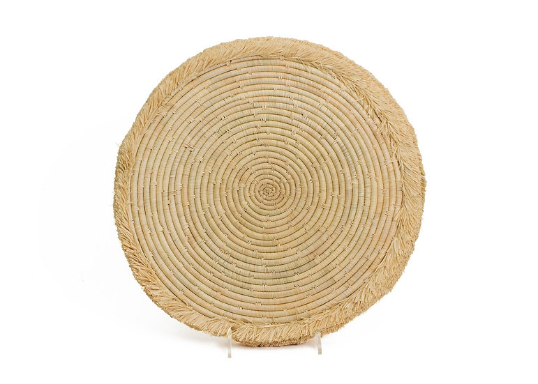 "15"" Natural Large Fringed Charger"