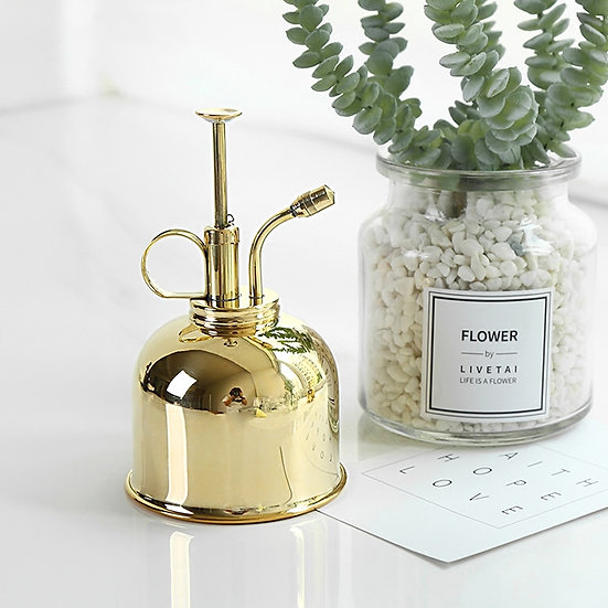 Nordic Style Vintage Mini Brass Watering Can