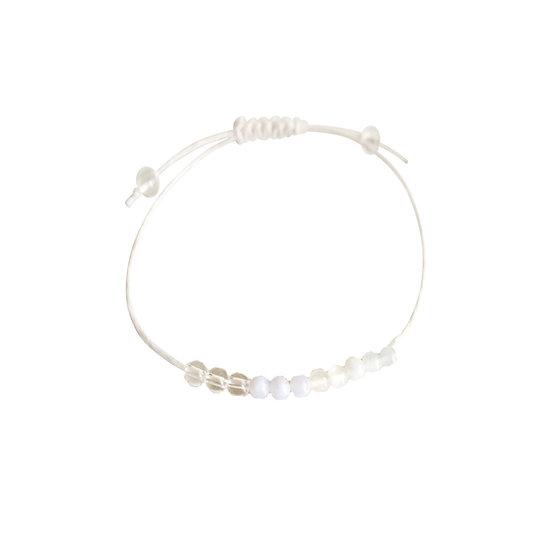 Aquamarine, Blue Lace Agate, Quartz & Rose Quartz Hemp Wish Bracelet