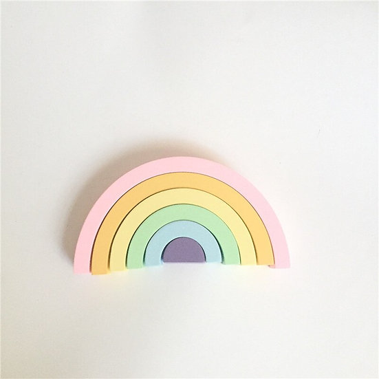 Nordic Wooden Rainbow Building Blocks
