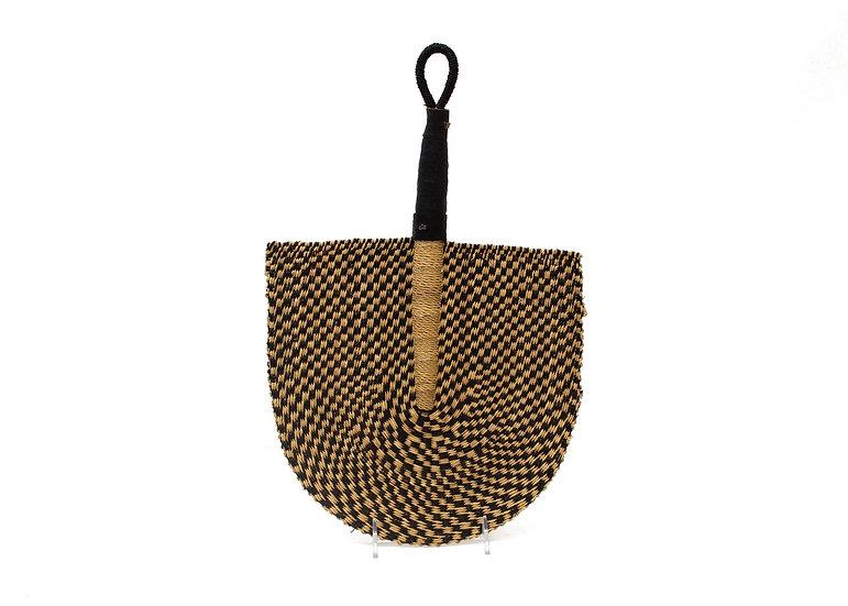 Checkered Black + Natural Bolga Fan