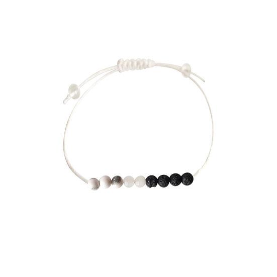 Rose Quartz, White Howlite, Lava Beads + Hemp + Choice of Anklet or Bracelet