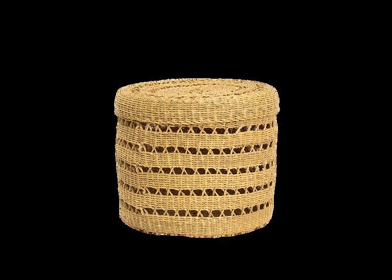 Large Lidded Lace Grass Box