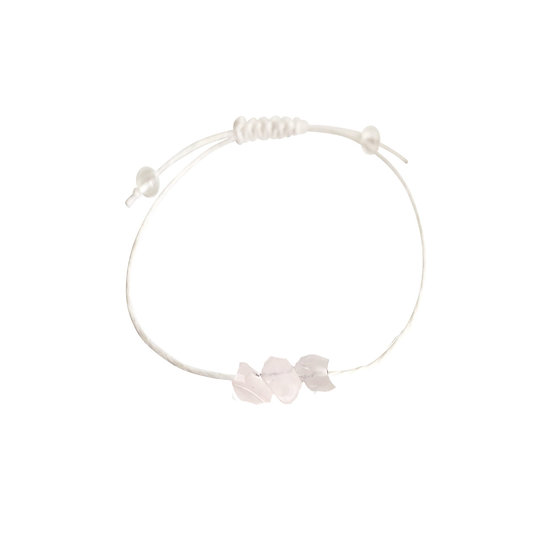 Rose Quartz + Hemp + Choice of Anklet or Bracelet