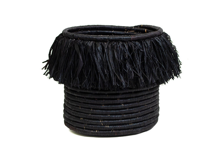 Large Black Fringed Catch All