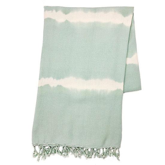 Mint Tie Dye Turkish Beach Towel