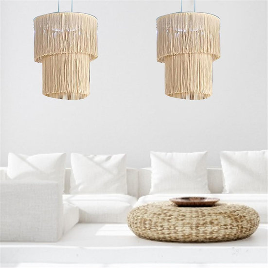Hand-Knitted Macrame Lampshade