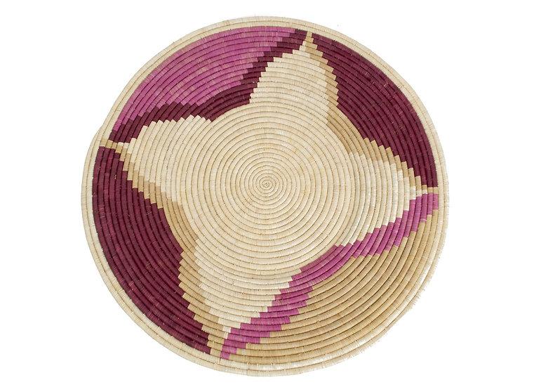 Rosette Color Blocked Jumbo Raffia Plate