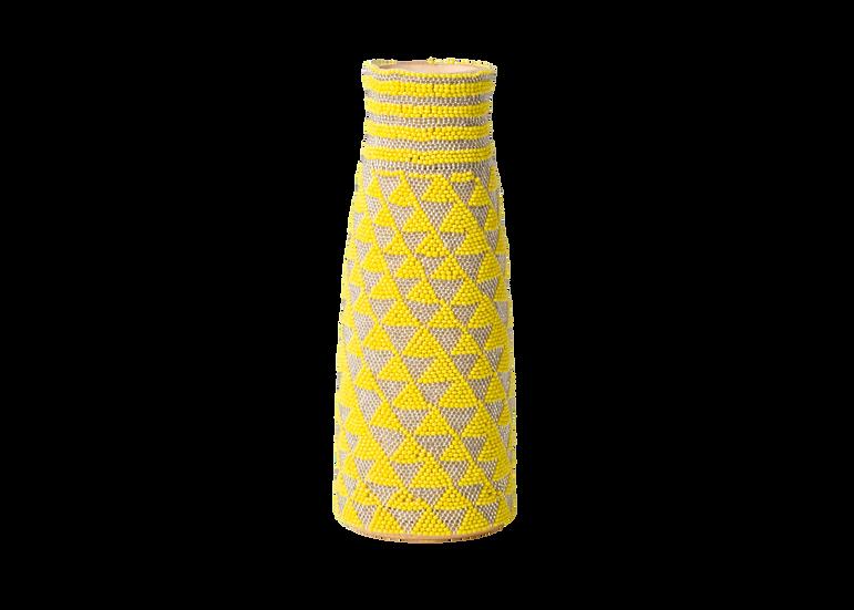Beaded Sun + Pearl Bud Vase
