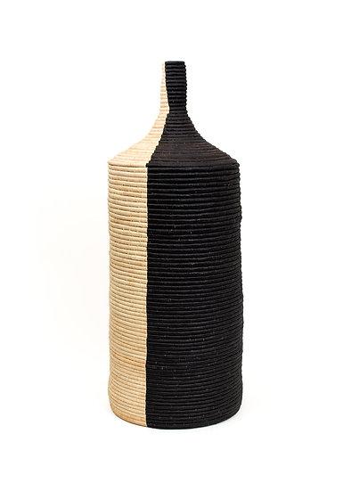 Large Odetta Black + Natural Floor Box II