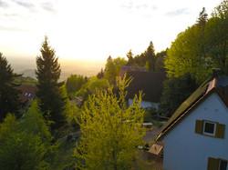 Ausblick vom Haus inrs Rheintal