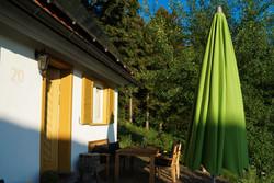 Terrasse und Haus