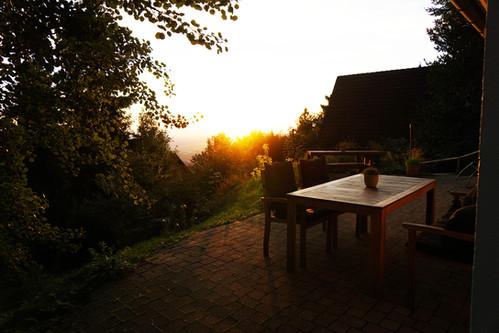 Terrasse Ferienhaus Chalet Bergweide