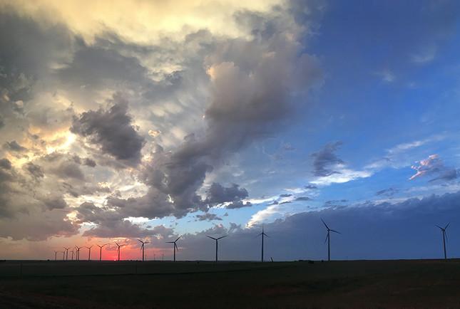 Wind Generators under Stormy Sky