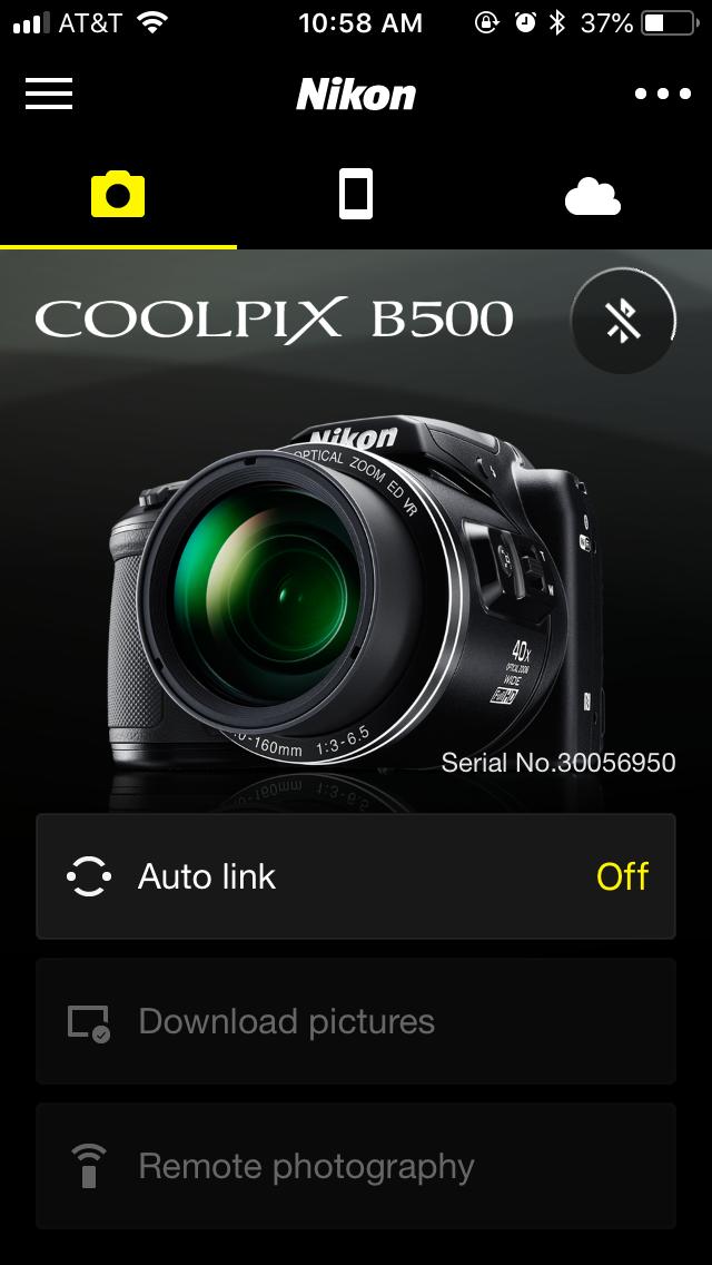 Nikon Coolpix B500 SnapBridge