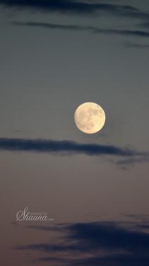 Full Moon on Evening Sky