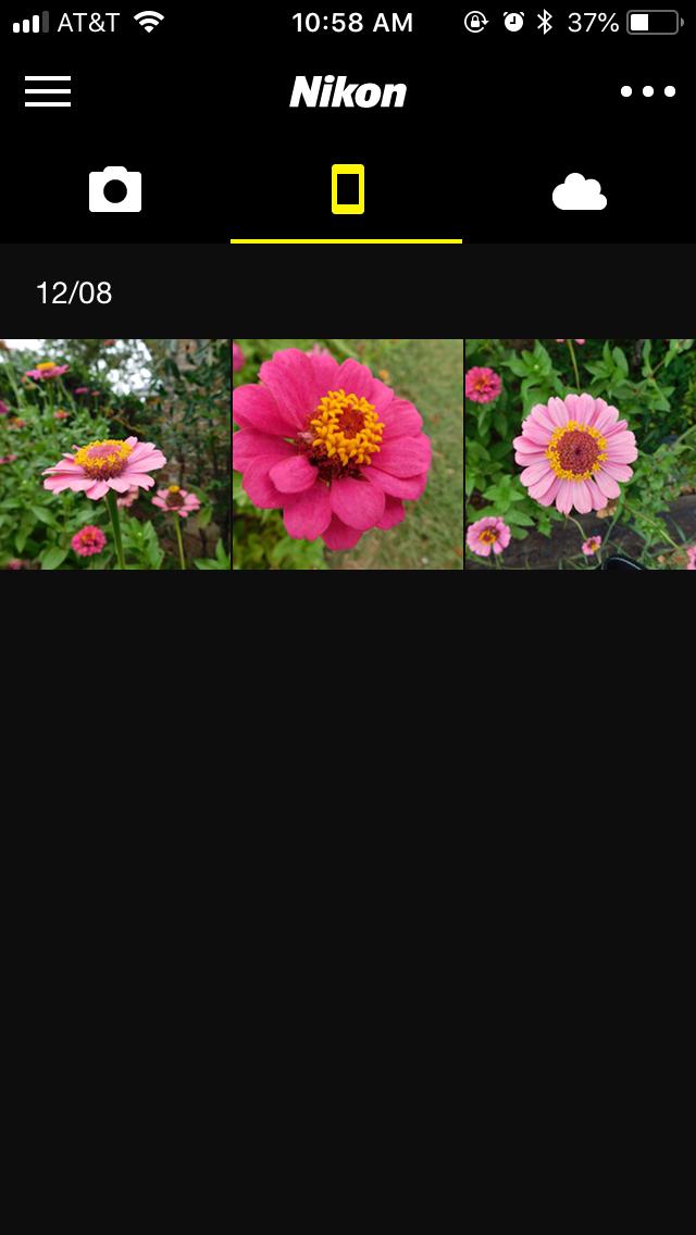 Nikon Coolpix B500 SnapBridge App