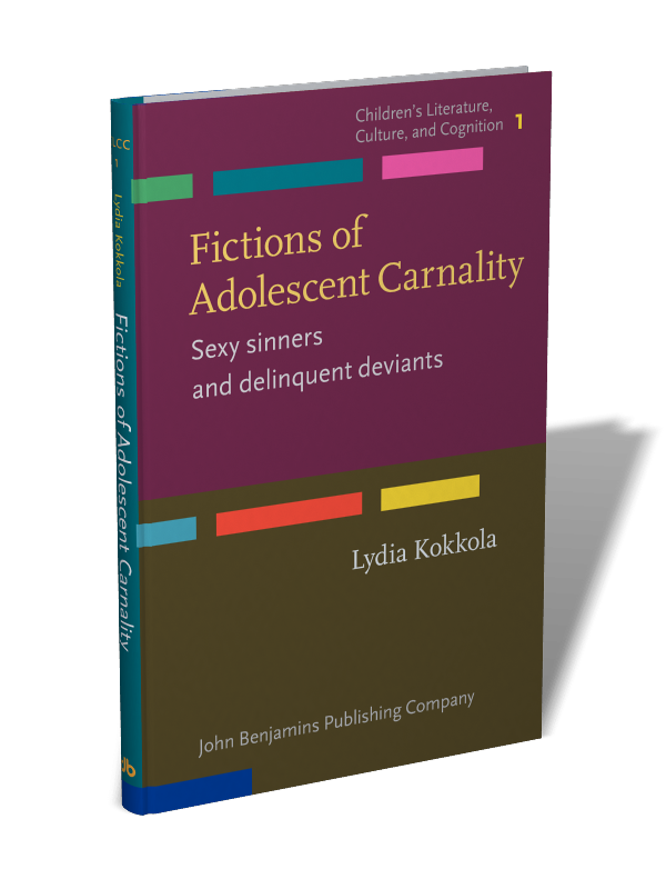 A copy of Lydia Kokkola's book Fictions of Adolescent Carnality.