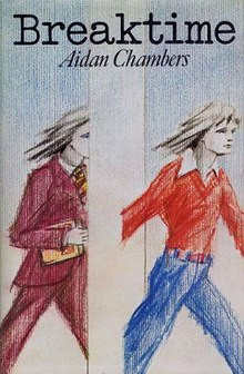A book cover showing an illustration of one or two young women walking from left to right in pastel colour.