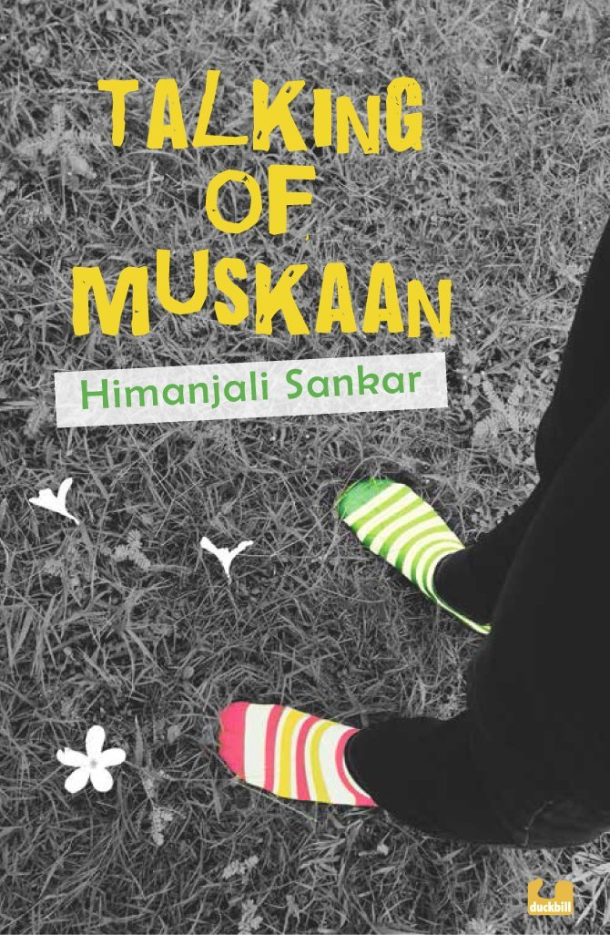 Book cover showing someone wearing socks on grass.
