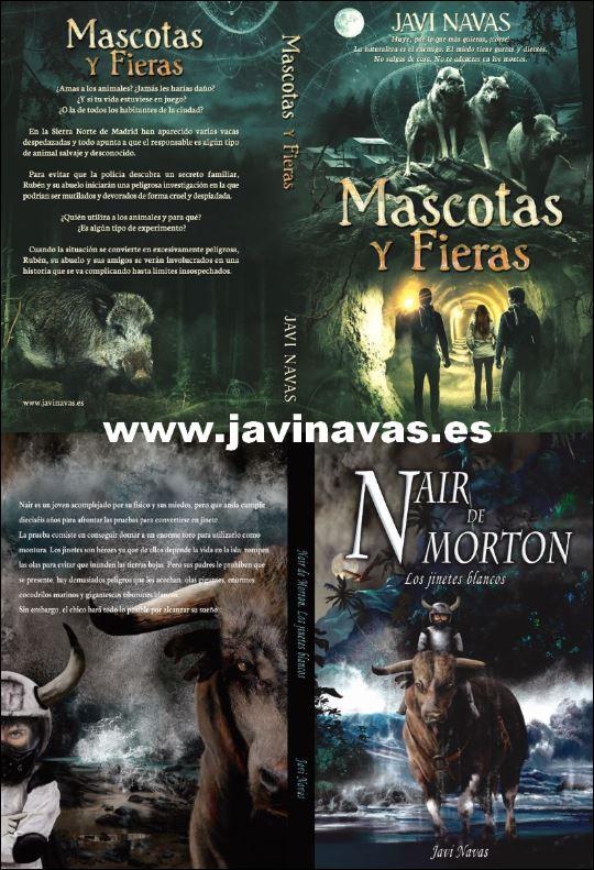 Cubiertas de Mascotas y fieras y de Nair de Morton. Los jinetes blancos, en www.javinavas.es