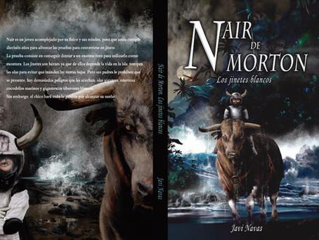 Impresionante cubierta de Alberto Góngora para Nair de Morton. Los jinetes blancos. Quedan 2 días de
