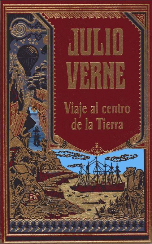 Portada de Viaje al centro de la Tierra, de Julio Verne