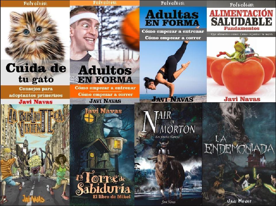 Portadas de algunos libros de www.javinavas.es