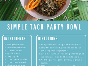 SIMPLE TACO PARTY BOWL RECIPE