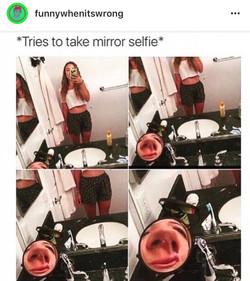 Why I don't take mirror selfies