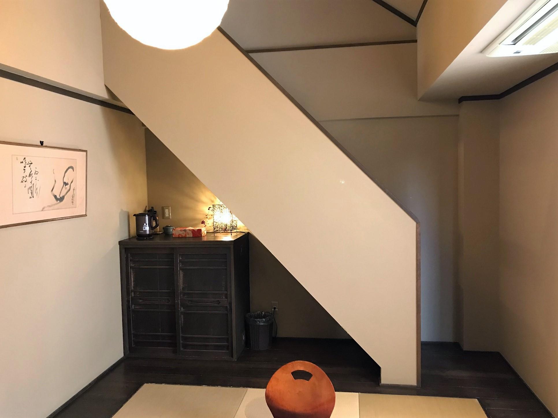 【うすずみ桜】ロフトへの階段