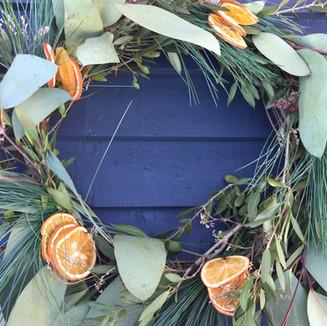 unusual festive wreath