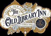 Old Library Inn Logo 3c Ginger Navy Blue