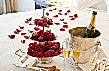 Honeymoon suite with chocolate strawberr