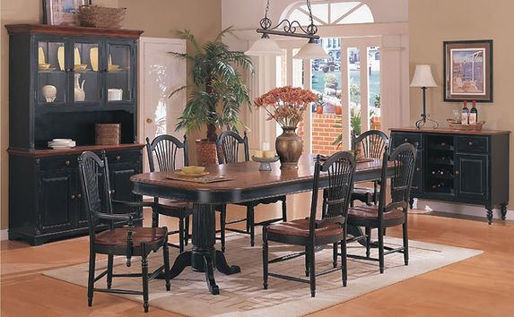 Double Pedestal 7 Pc Table & Chairs