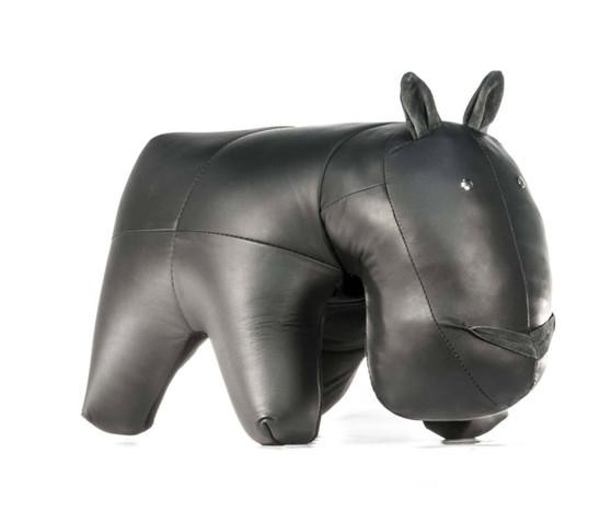 Hippo Leather Ottoman