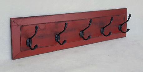 193 Panel Coat Rack (5-Hook) - Red over Black.jpg