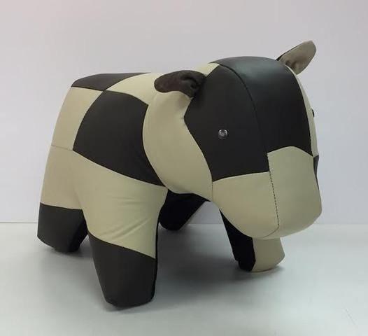 Cow - Multi Leather Ottoman