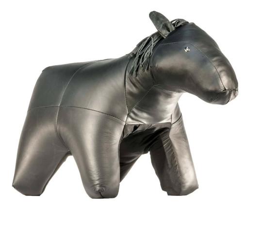 Horse Leather Ottoman