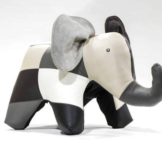 Elephant - Multi Leather Ottoman