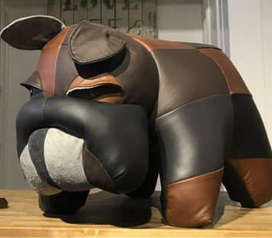 Bulldog Multi Leather Ottoman